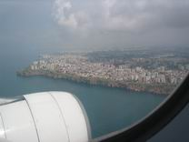 Anflug auf Antalya
